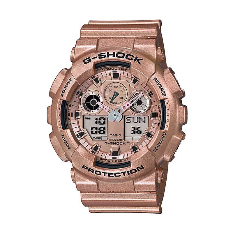 CASIO G-SHOCK GA-100GD-9A Rose Gold Jam Tangan Pria [Limited Edition]