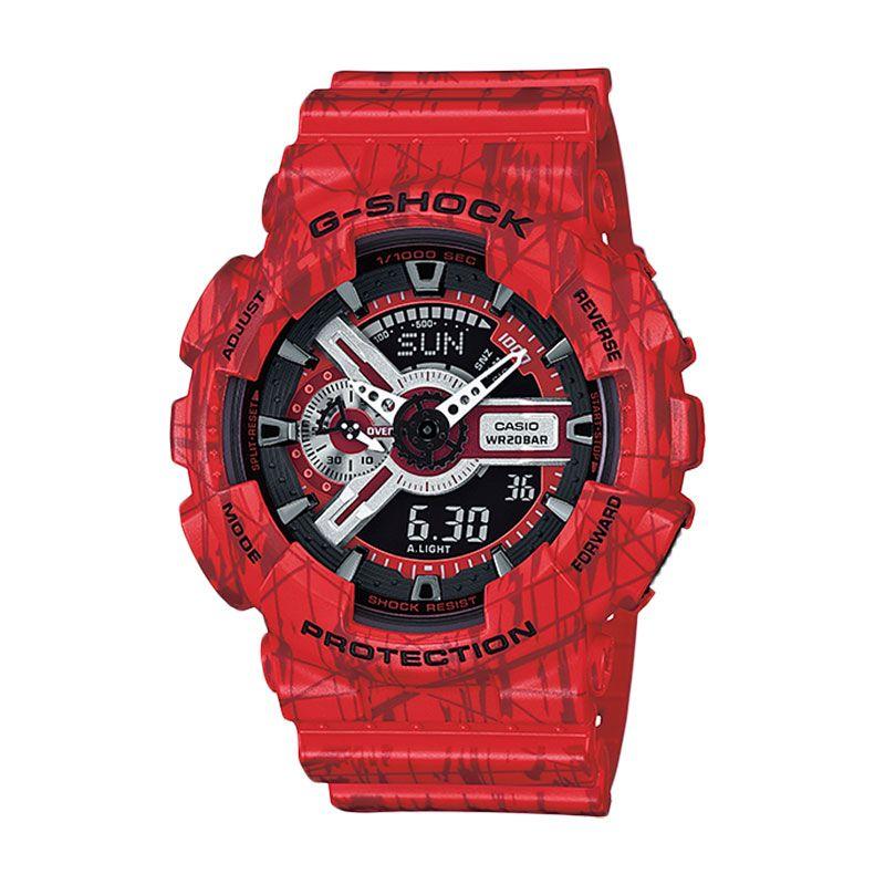 Casio G Shock GA-110SL-4A Red Jam Tangan Pria