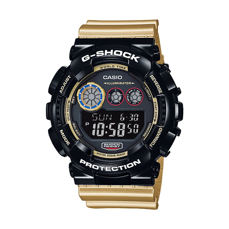 Casio G-Shock GD-120CS-1DR Limited Edition Black Gold Jam Tangan Pria