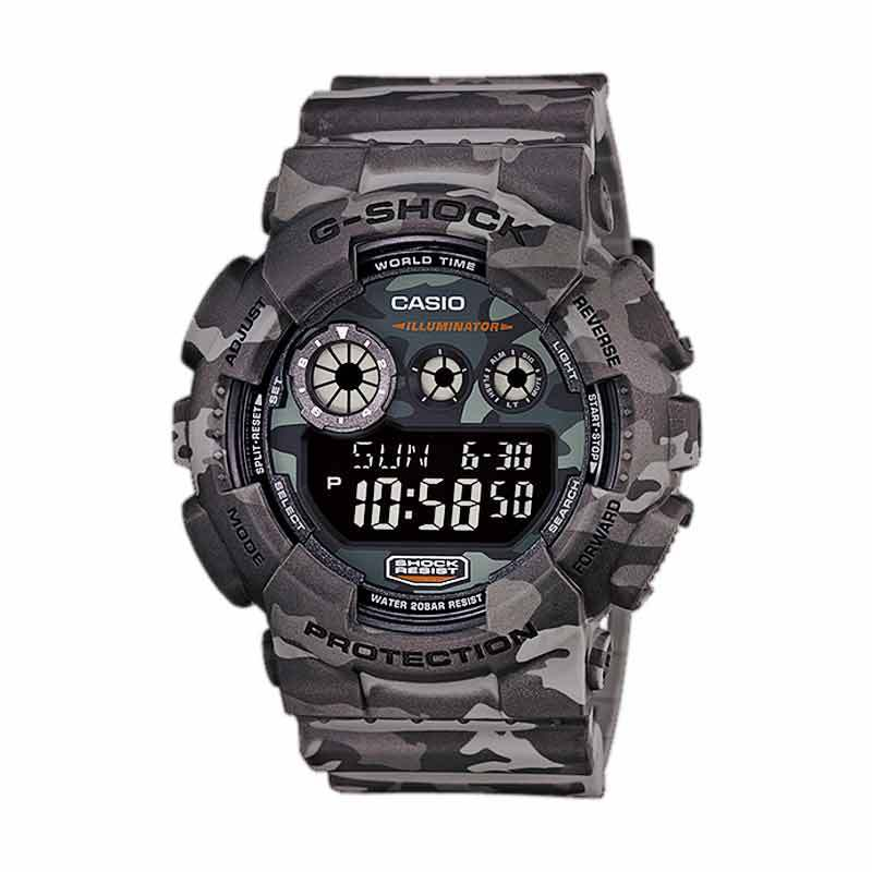 Casio G-Shock Jam Tangan Pria GD120CM-8 Camo Ltd. Edition