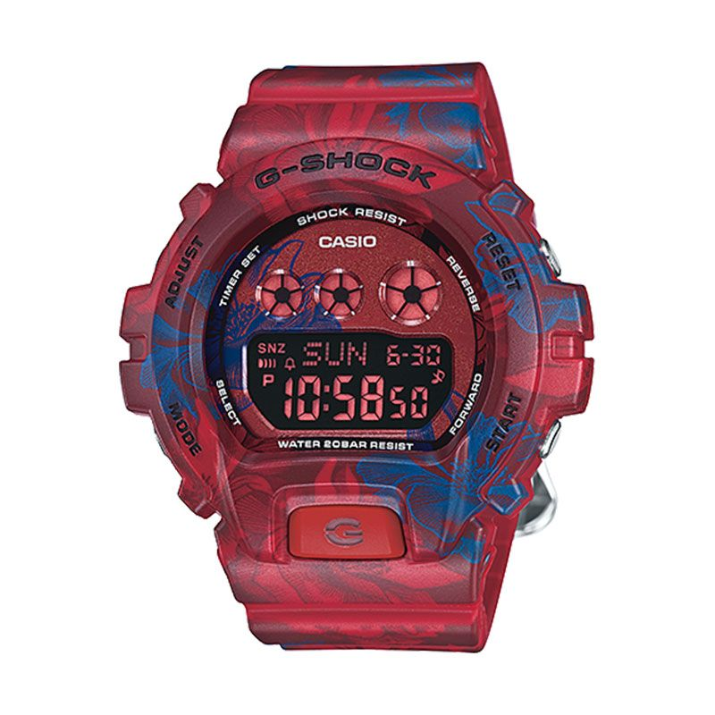 Casio G-SHOCK GMD-S6900F-4DR Floral Red Jam Tangan Pria