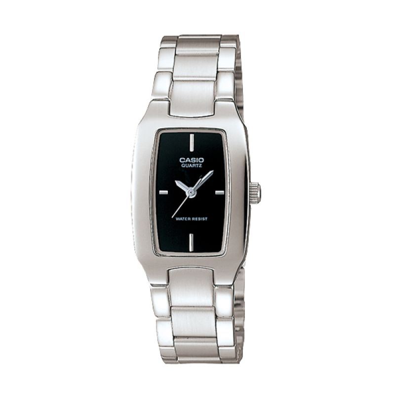 Casio LTP-1165A-1CDF Silver Black Jam Tangan Wanita