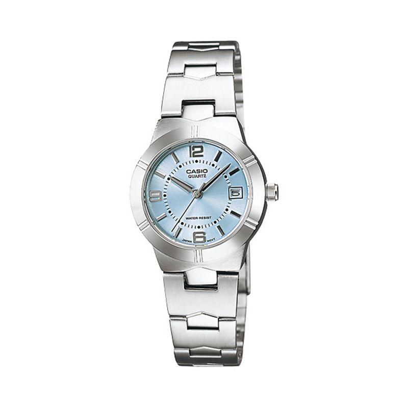 Casio LTP-1241D-2A Silver Blue Jam Tangan Wanita