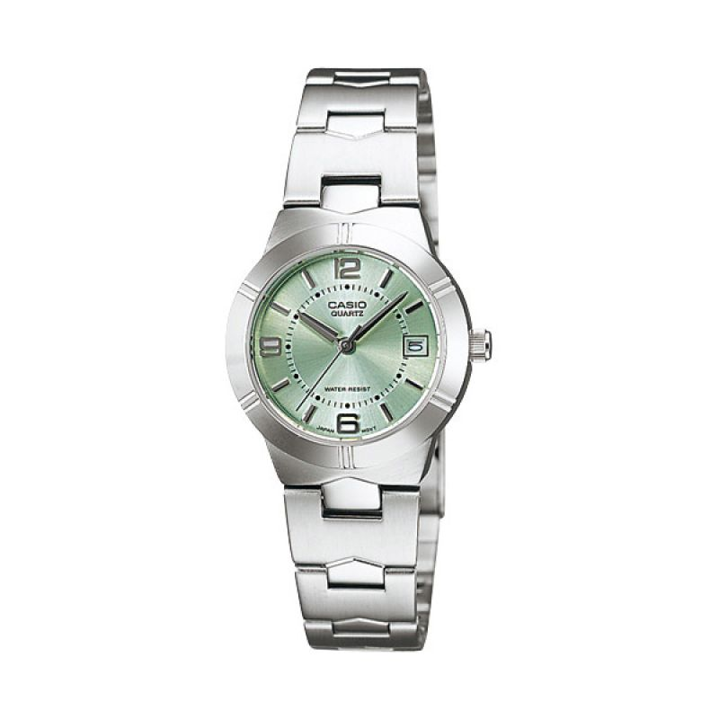 Casio LTP-1241D-3A Light Green Jam Tangan Wanita