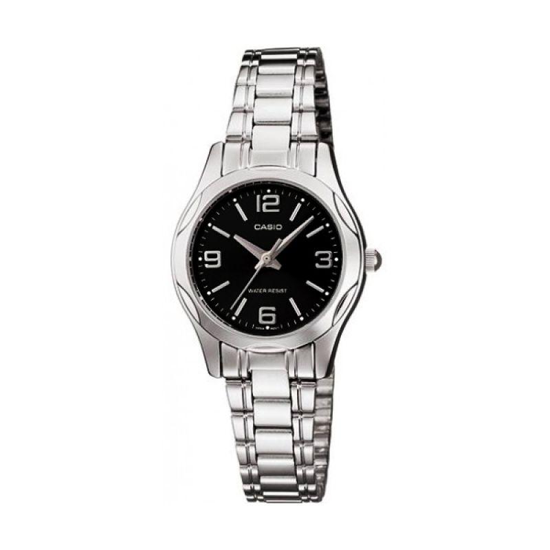 Casio LTP-1275D-1A2 Silver Black Jam Tangan Wanita