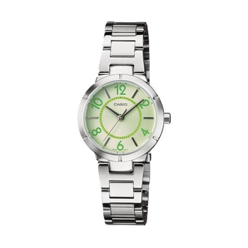 Casio LTP-1293D-3AV Green Jam Tangan Wanita