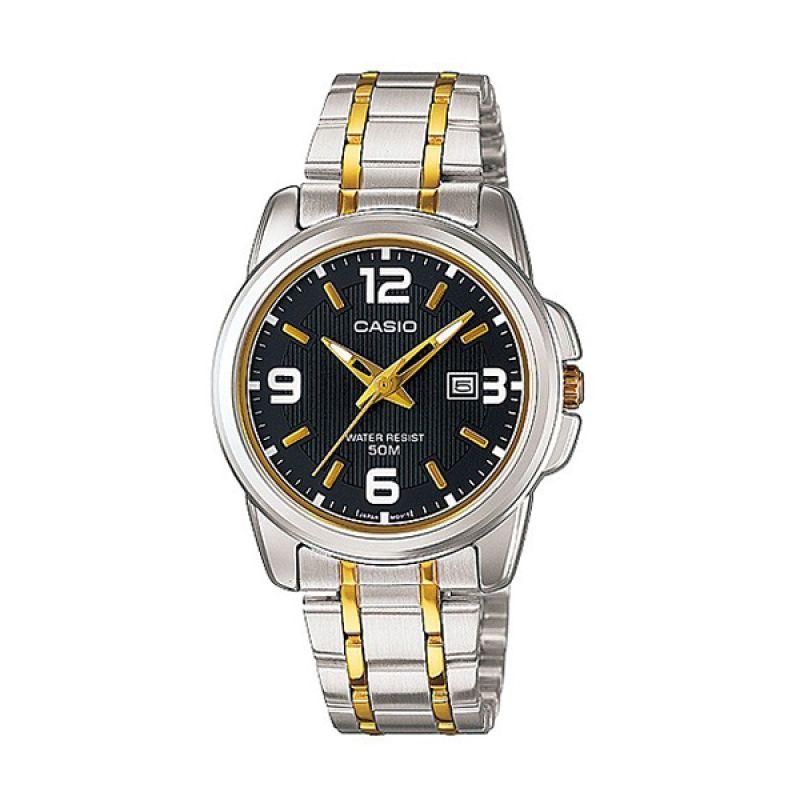 Casio LTP-1314SG-1A Gold Black Jam Tangan wanita