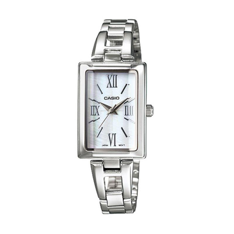CASIO LTP-1341D-7A Silver White Jam Tangan Wanita