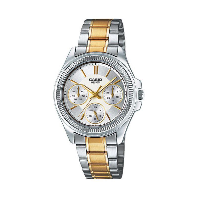 Casio LTP-2088SG-7A Silver Gold Jam Tangan Wanita