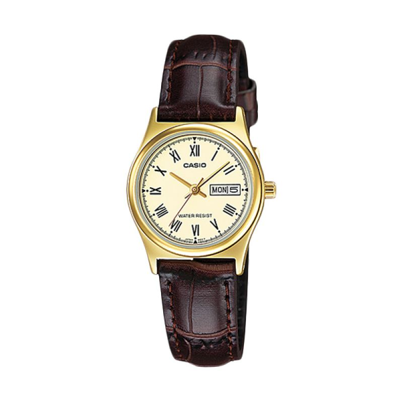 Casio LTP-V006GL-9B Gold Brown Jam Tangan Wanita