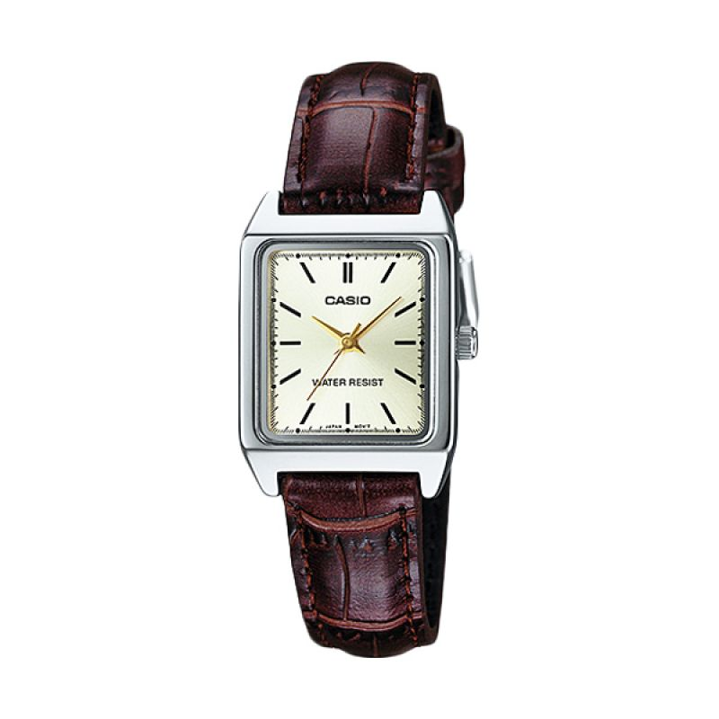 Casio LTP-V007L-9E Gold Brown Jam Tangan Wanita