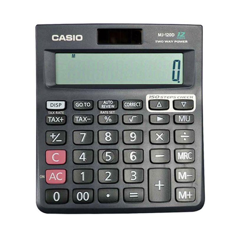 Casio MJ-120D Two Way Power Kalkulator [12 Digit]