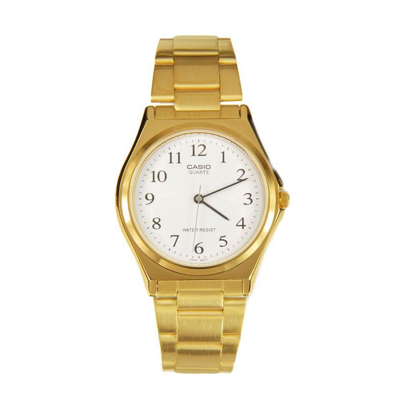 CASIO MTP-1130N-7BRDF Gold White Jam Tangan Wanita