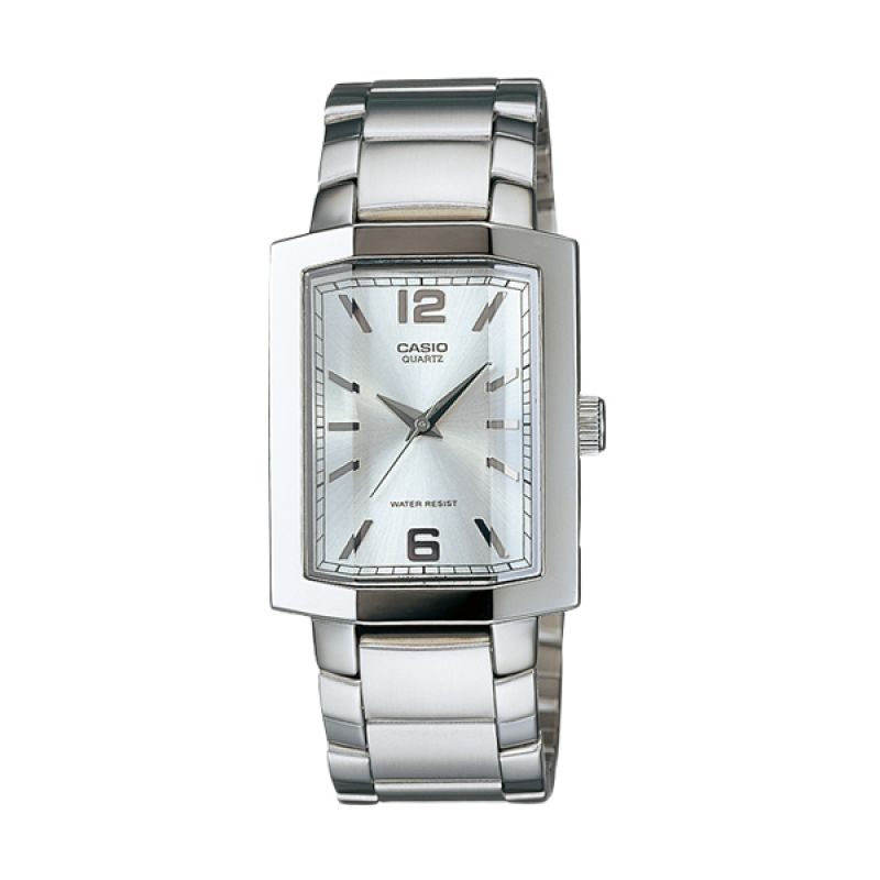 CASIO MTP-1233D-7A Enticer Silver White Jam Tangan Pria