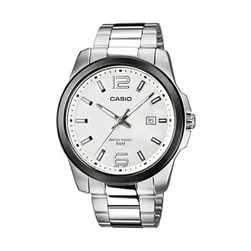 CasioMTP-1296GD-7AV Silver Grey Jam Tangan Pria