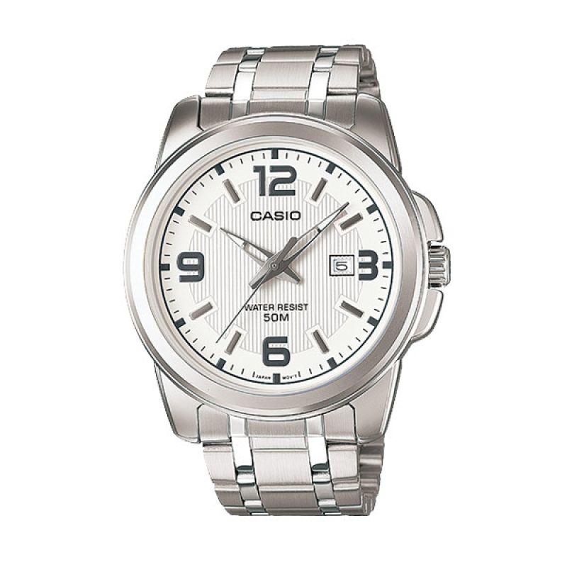 Casio MTP-1314D-7A Silver White Jam Tangan Pria
