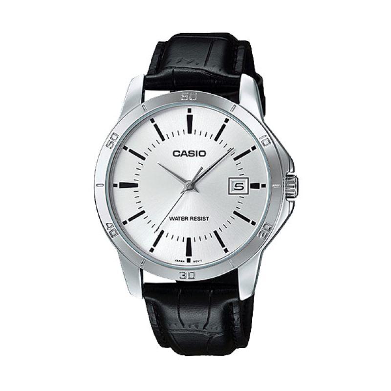 Casio MTP-V004L-7A Black White Jam Tangan Pria