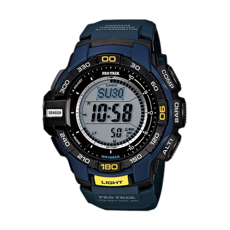 Casio Protrek PRG-270-2DR Triple Sensor Ver.3 Blue Jam Tangan Pria