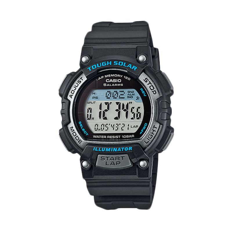 Casio STL-S300H-1A Tough Solar Sports Black Jam Tangan Pria