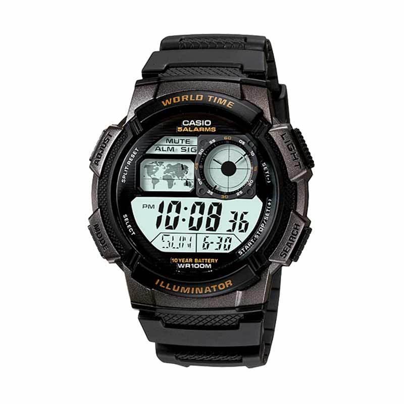 Jam Tangan Pria CASIO AE-1000W-1A - 10 Year Battery Life