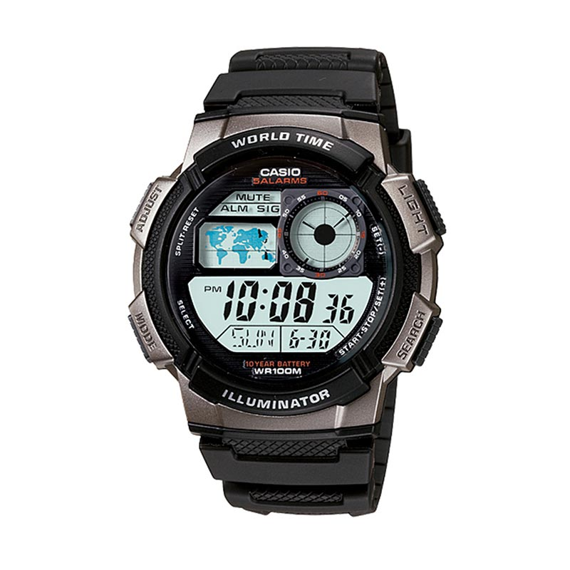 harga Casio AE-1000-W-1BVDF Black - Jam Tangan Pria Blibli.com