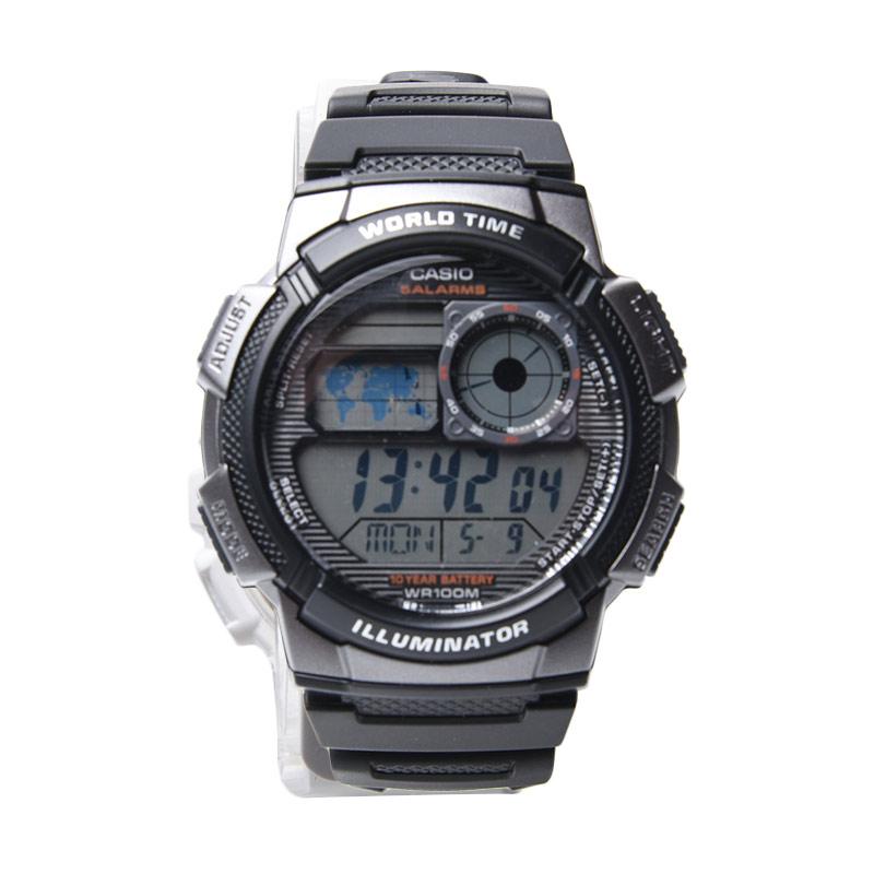 harga Casio AE-1000W-1BVDF/3198 Jam Tangan Wanita - Black Blibli.com