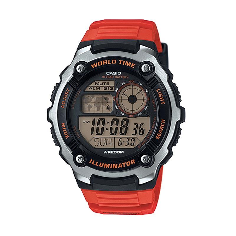 Casio AE-2100W-4A Black Red Sport - Men Watch