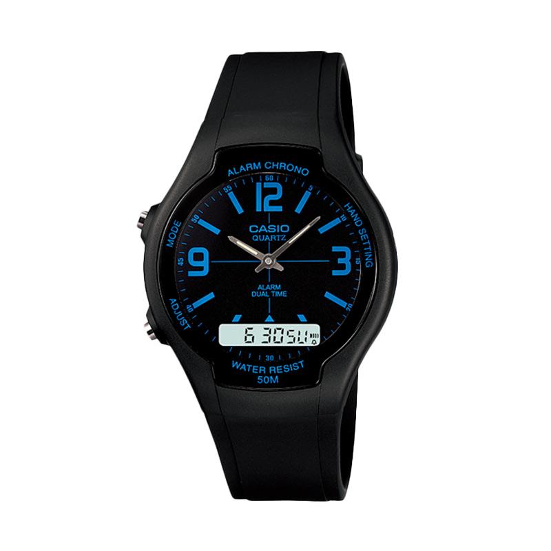 CASIO AW-90H-2B Dual Time Ana-Digi Jam Tangan Pria - Black