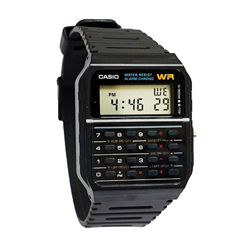 CASIO CA-53W-1A Dual Time 8 Digit Calculator Jam Tangan Pria