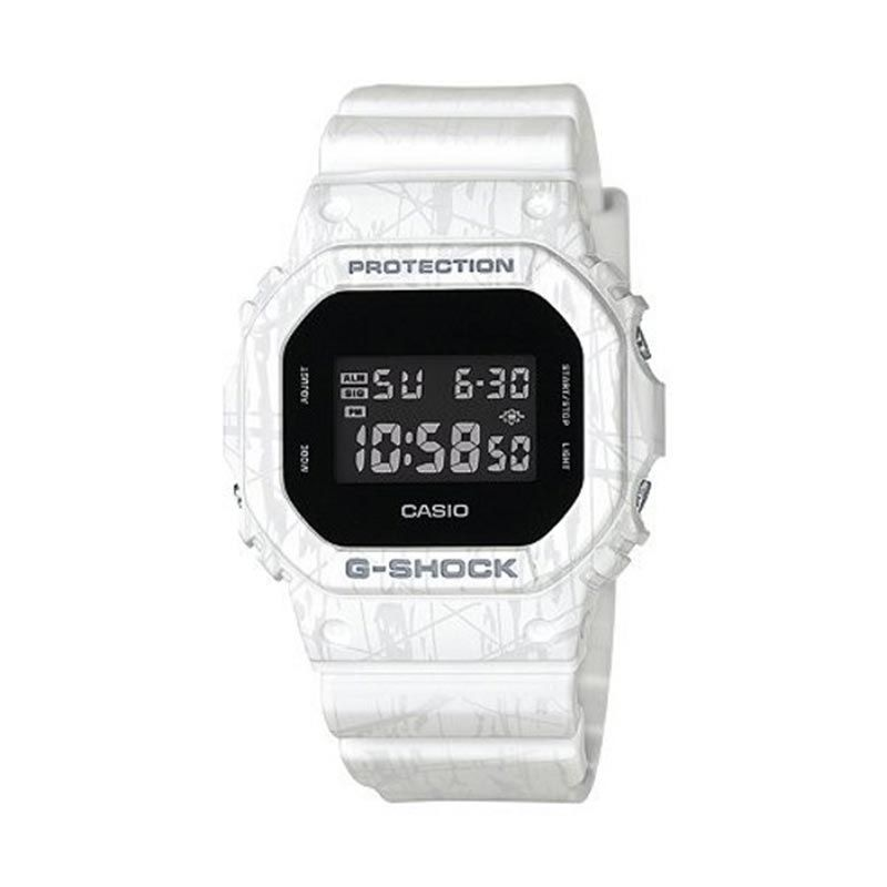 Casio G Shock DW-5600SL-7DR White Jam Tangan Pria