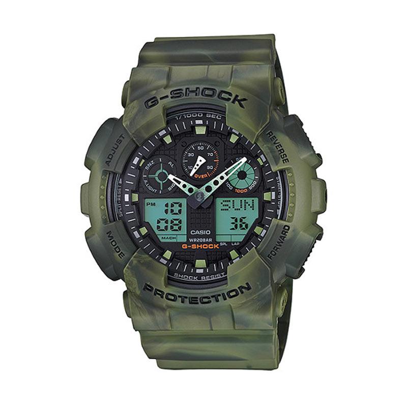 Casio G Shock GA-100MM-3ADR - Jam Tangan Pria