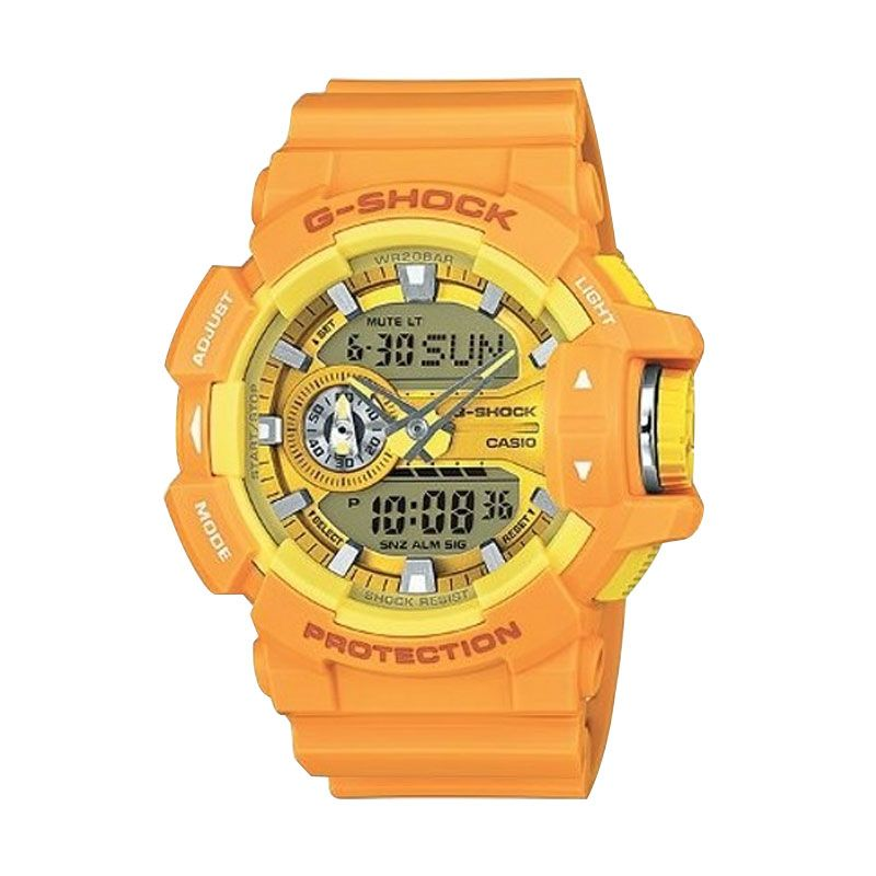 Casio G Shock GA-400A-9ADR Yellow Jam Tangan Pria