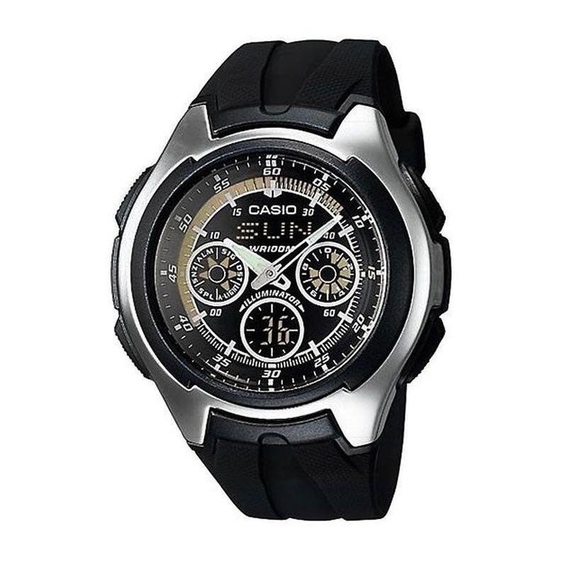 Casio Man Combination AQ-163W-1B1VDF Jam Tangan Pria
