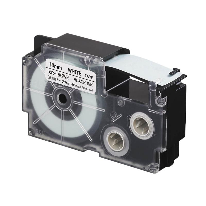 Casio XR-18GWE Label Printer - Black On White High Strength [18 mm]