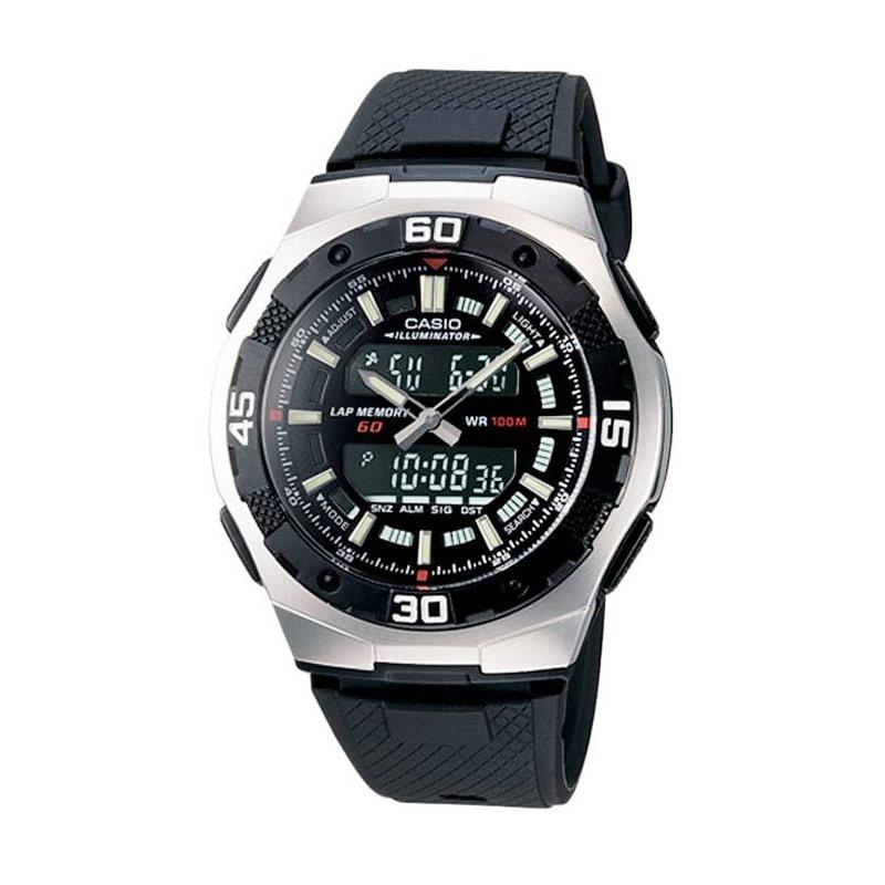 Casio Standard AQ-164W-1AV Black Jam Tangan Pria