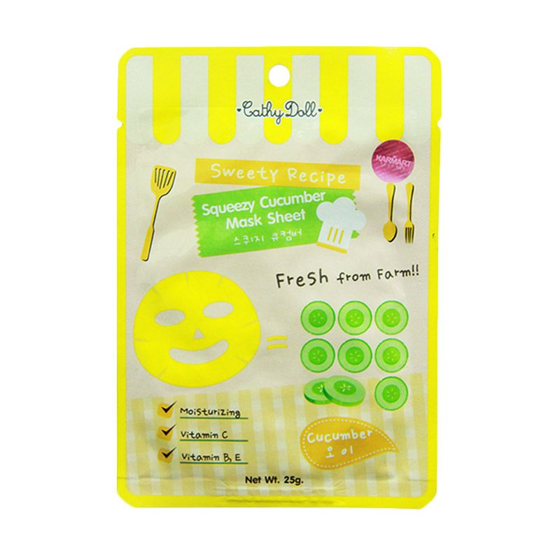 Cathy Doll Juicy Squeezy Cucumber Masker Wajah