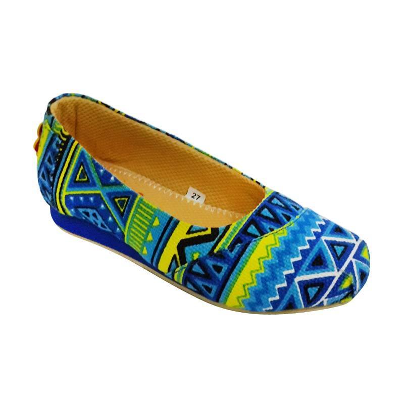 Caute Girls Flats Aztec Blue Sepatu Anak