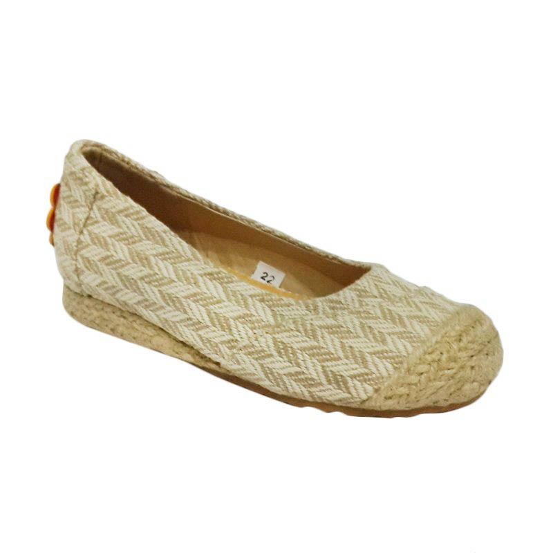 Caute Khaki Pattern Girls Flat Sepatu Anak