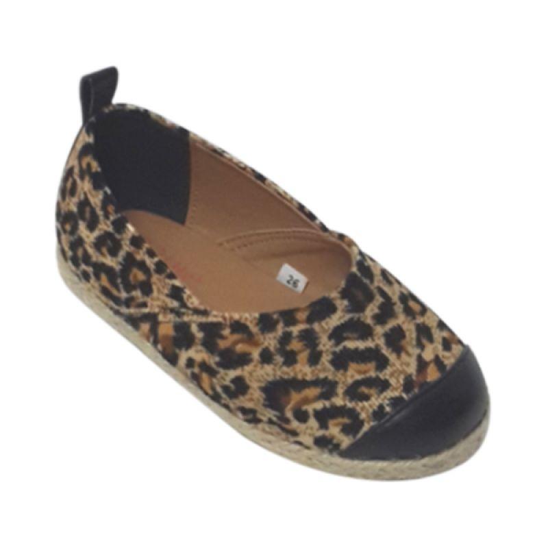 Caute Leopard Flats Brown Sepatu Anak Perempuan