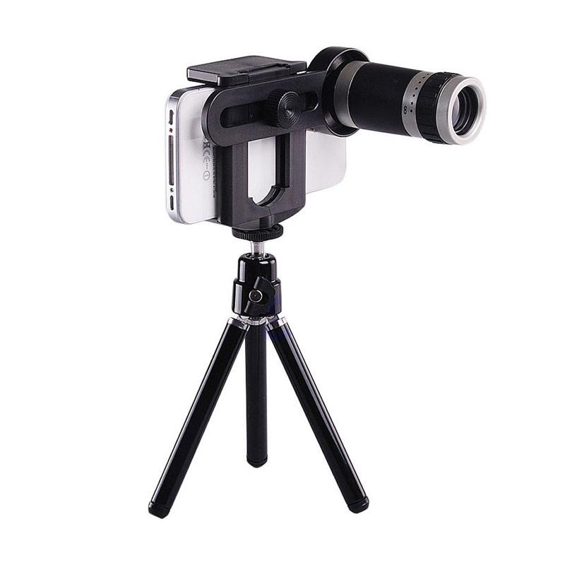 Jual CCC 8x Lens Zoom Telescope with Mini Universal Tripod Lensa for Mobile Phone Online - Harga & Kualitas Terjamin | Blibli.com