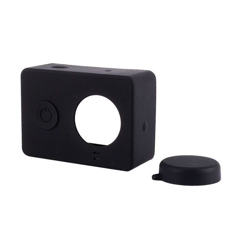 CCC Silicone and Lens Cap Casing for Xiaomi Yi