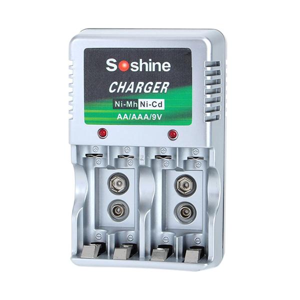 CCC Soshine Charger Baterai [9V Kotak/AA/AAA/4 Slot]