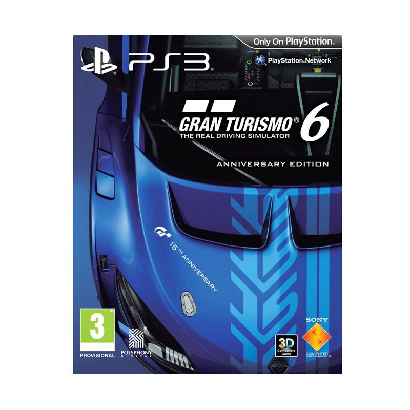 PS3 Sony Playstation 3 Gran Turismo 6 Limited Edition DVD Game