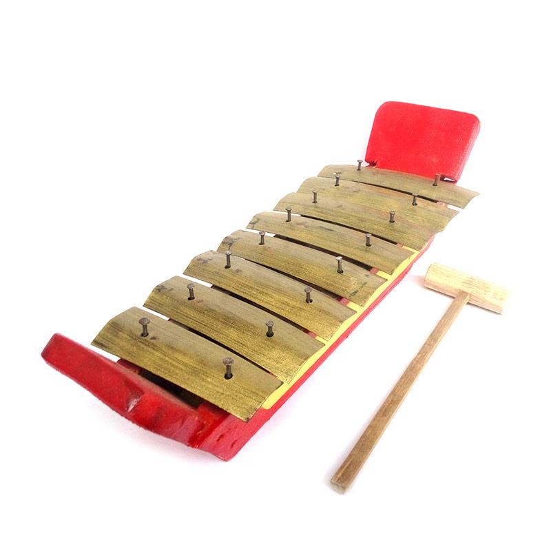 Central kerajinan Miniatur Gamelan Gambang 8 Bilah Mainan Tradisional