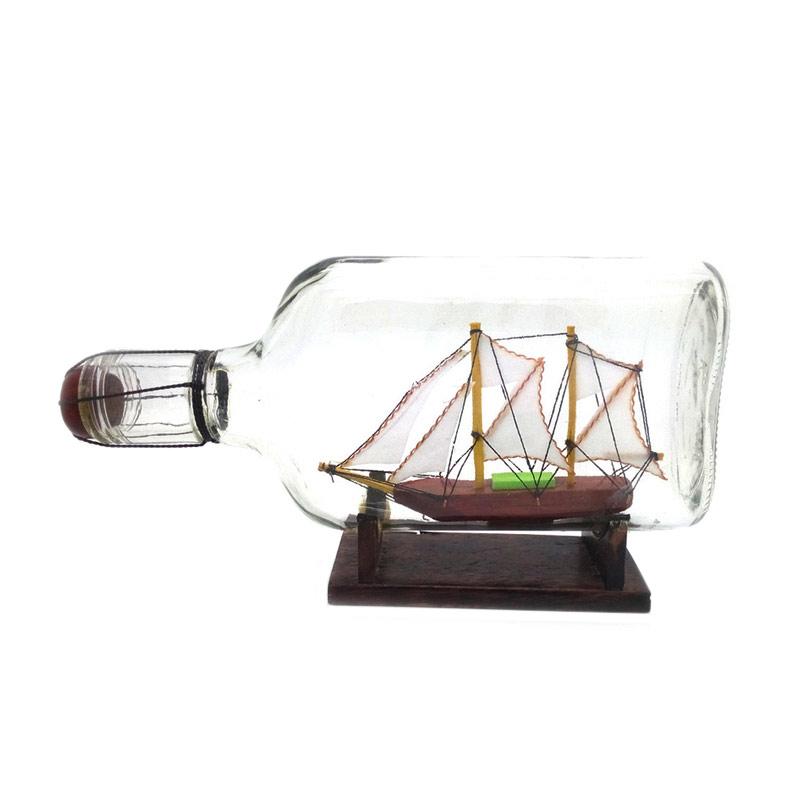 harga Central Kerajinan Miniatur Kapal Pinisi Dewaruci dalam Botol [19 x 10 x 4 cm] Blibli.com