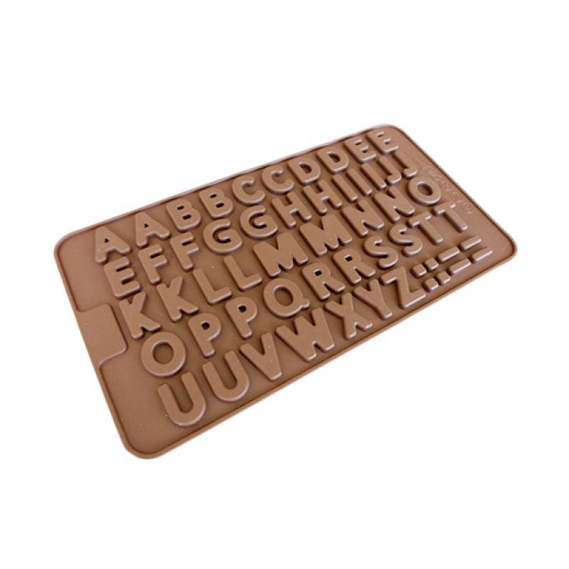 Cetakan Jelly Alphabet Cetakan Coklat
