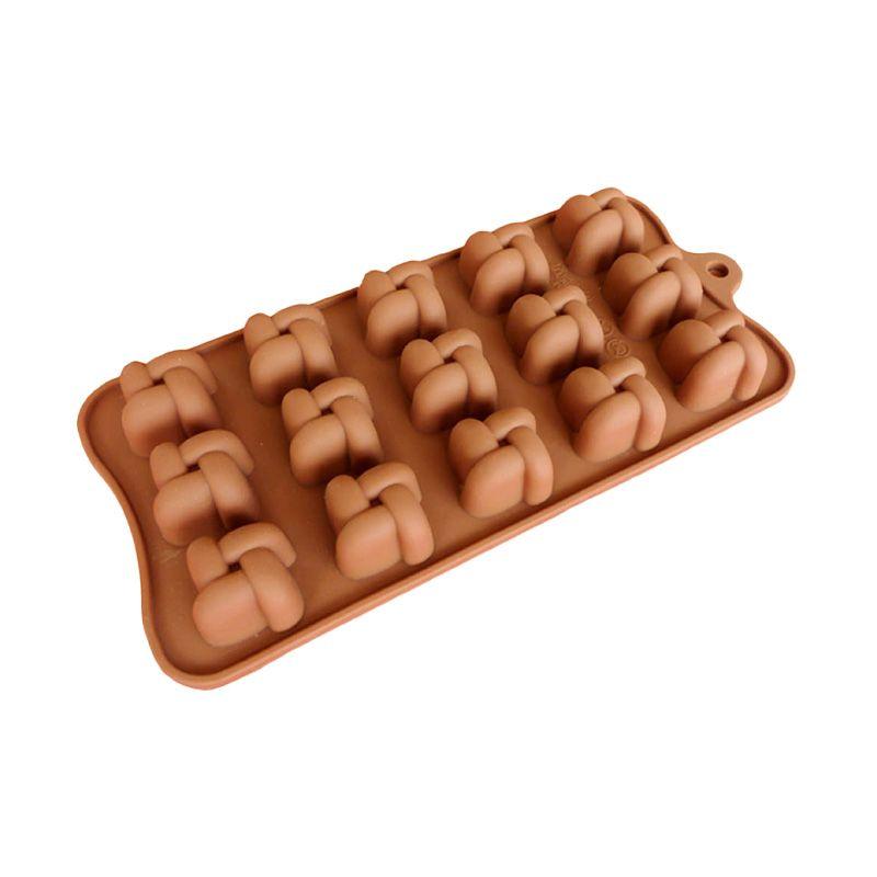 Cetakan Jelly Knott Coklat Atau Puding