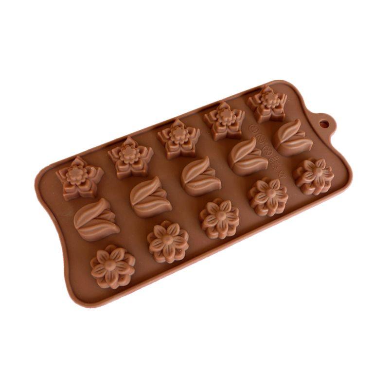 Cetakan Jelly Mini Tulip Mix Cetakan Coklat atau Puding