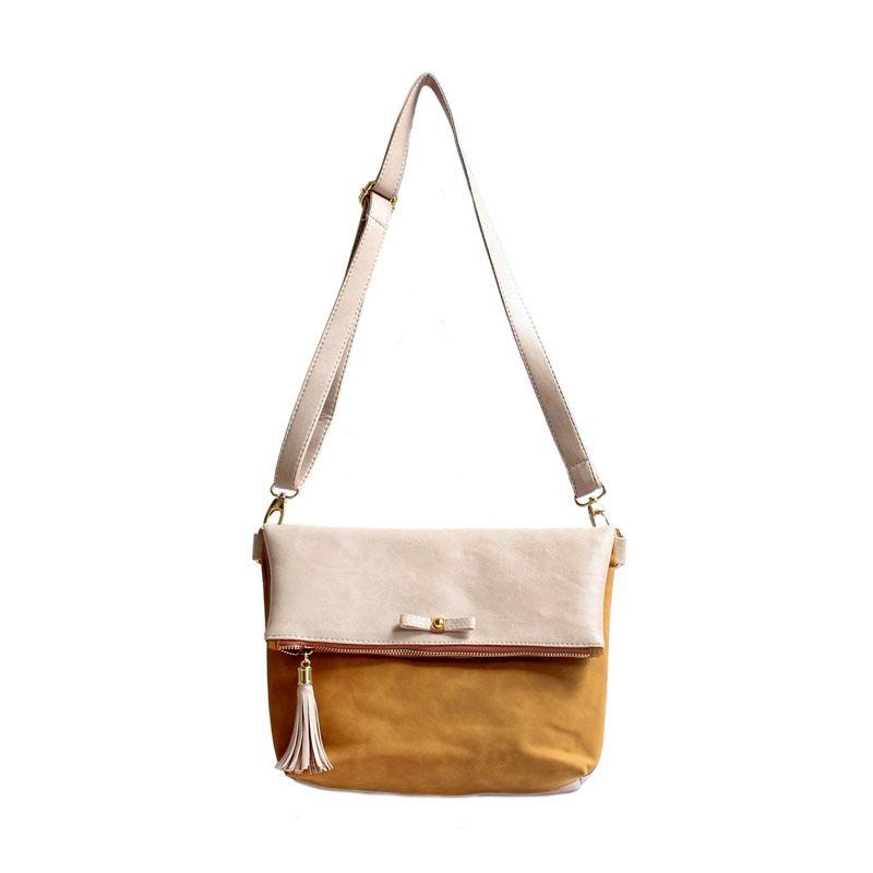 Ceviro Avantin Sling Bags Almond Gold