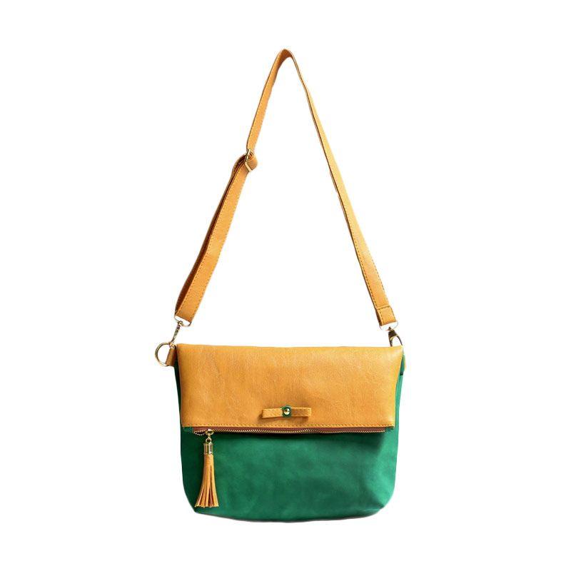Ceviro Avantin Sling Bags Yellow Green